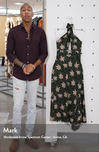 Hibiscus Halter Midi Dress, sales video thumbnail