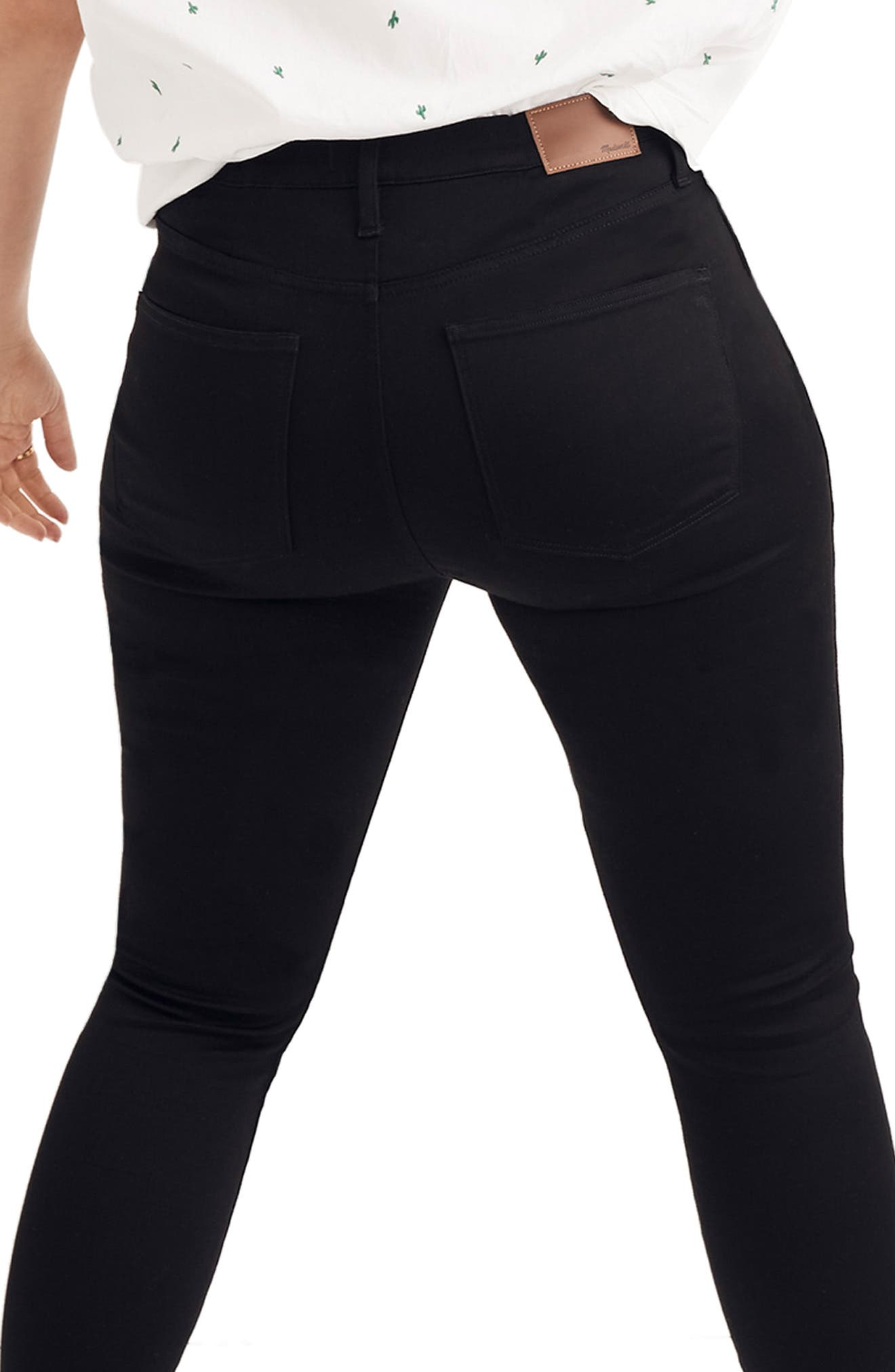 ,                             10-Inch High Rise Skinny Jeans,                             Alternate thumbnail 4, color,                             CARBONDALE