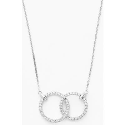 Bony Levy Double Diamond Circle Pendant Necklace (Nordstrom Exclusive)