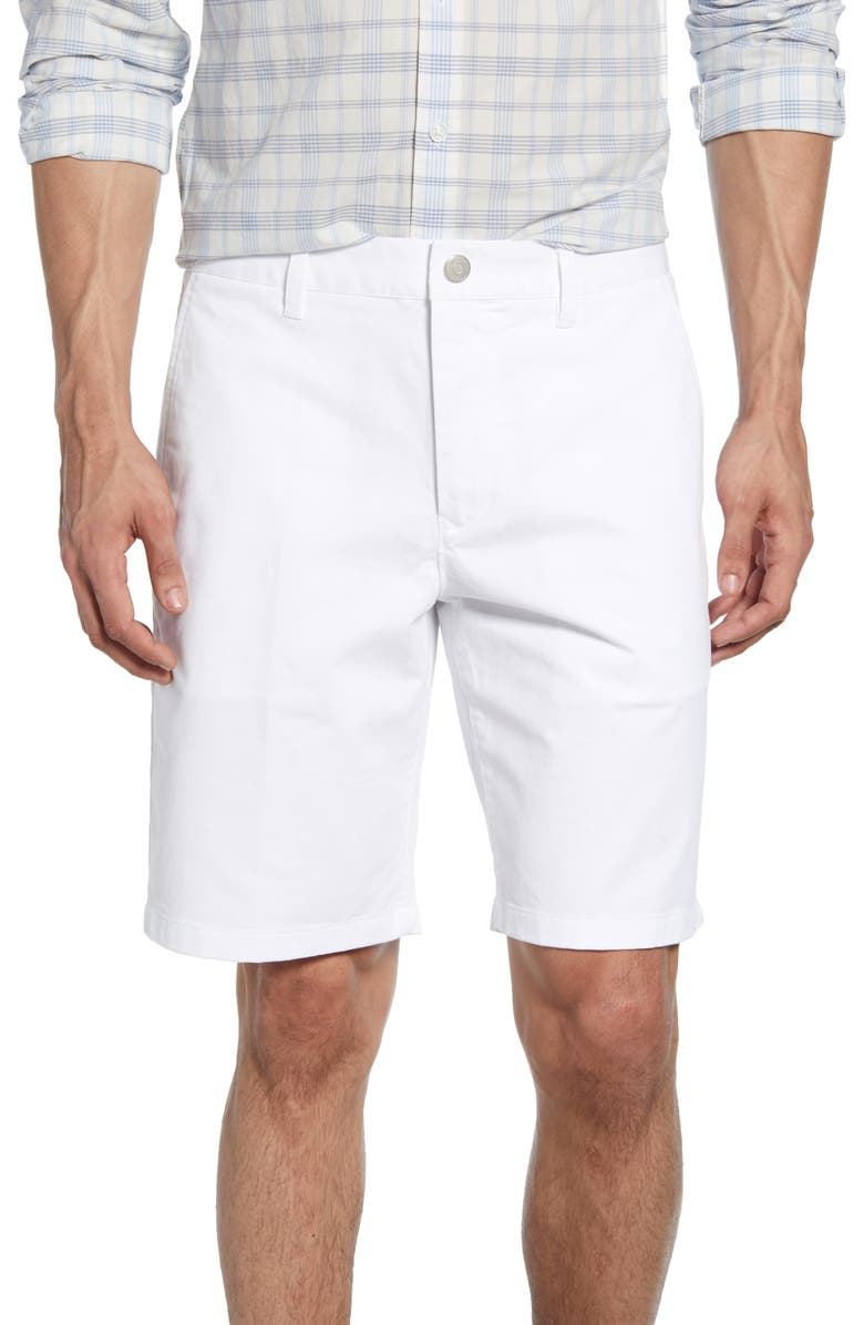 BONOBOS Stretch Washed Chino 9-Inch Shorts, Main, color, BRIGHT WHITE