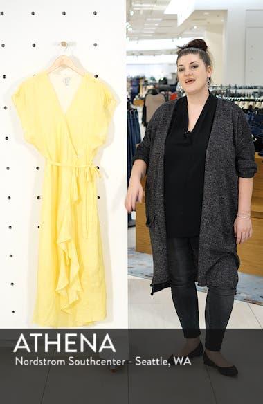 Filma Back Cutout Linen Wrap Dress, sales video thumbnail