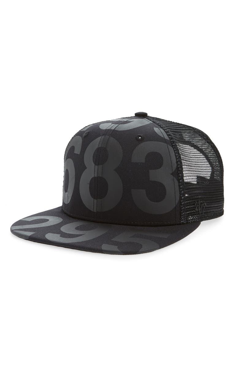NUNUNU Number Baseball Cap, Main, color, 001