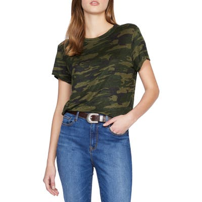 Sanctuary The Perfect Camo Linen Tee, Green