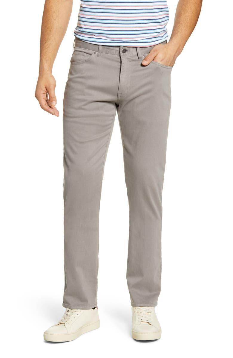 PETER MILLAR Ultimate Sateen Five Pocket Pants, Main, color, GALE GREY