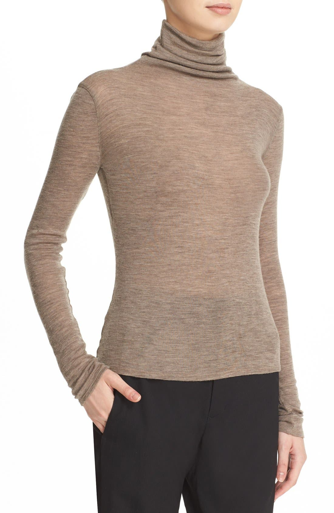 ,                             Lightweight Wool Funnel Neck Sweater,                             Alternate thumbnail 16, color,                             200