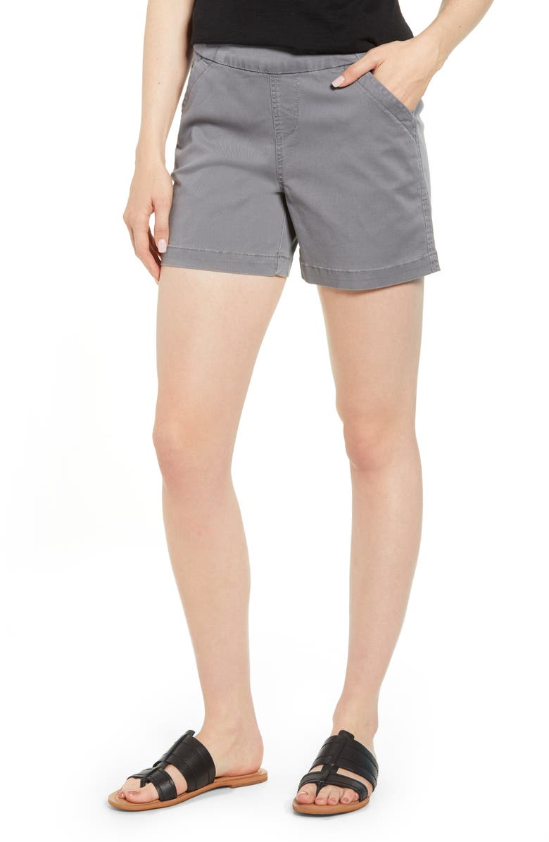 JAG JEANS Gracie Cotton Blend Shorts, Main, color, GREY STREAK