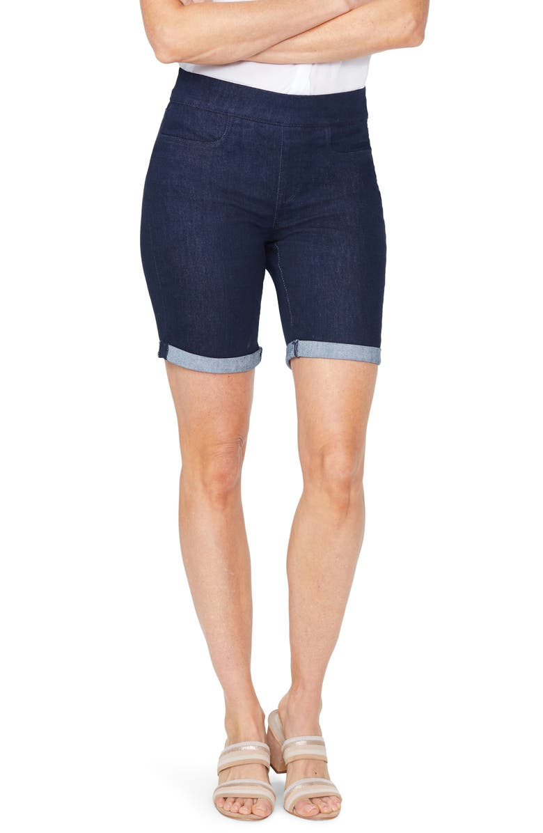 NYDJ Roll Cuff Pull On Denim Shorts