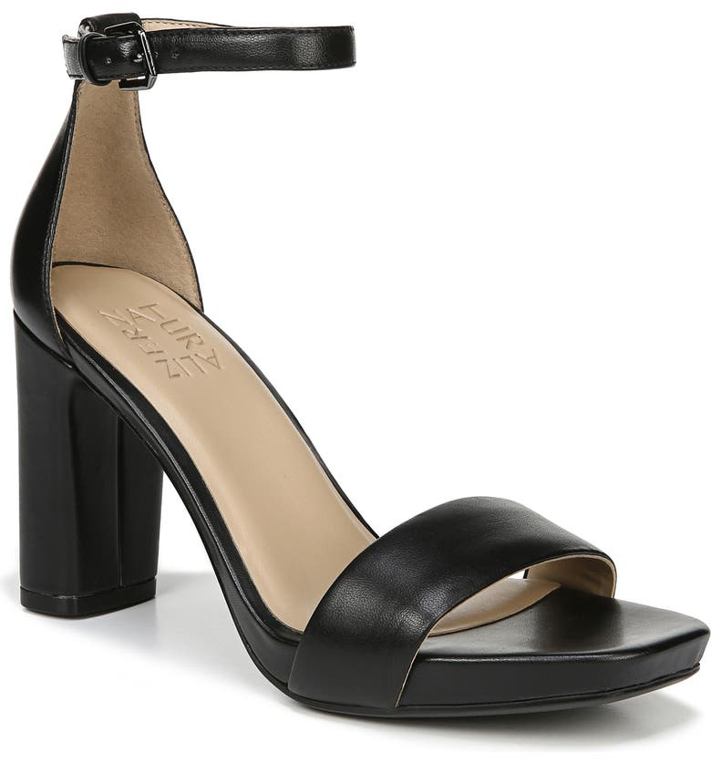 NATURALIZER Joy Ankle Strap Sandal, Main, color, BLACK LEATHER