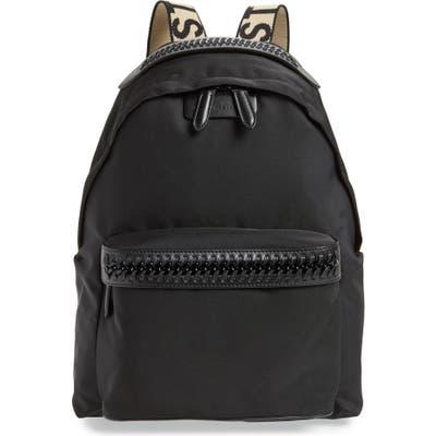 Stella Mccartney Logo Strap Nylon Backpack - Black