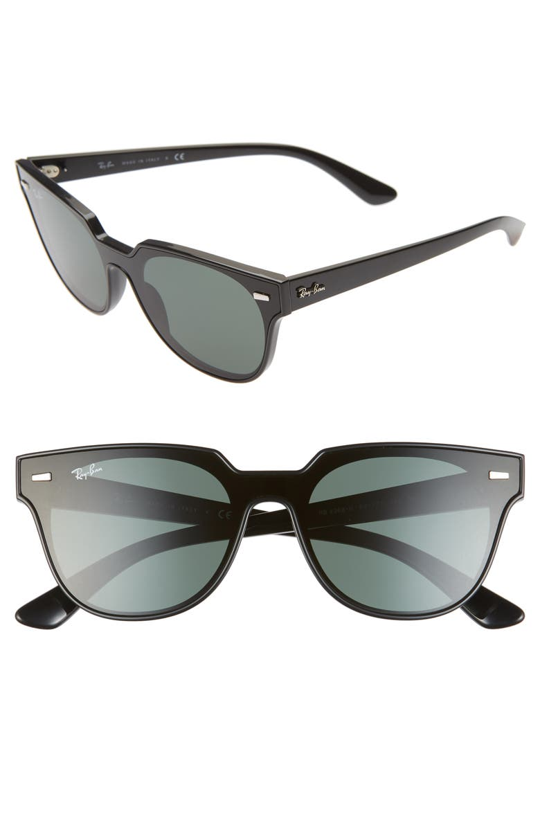 RAY-BAN Wayfarer 51mm Sunglasses, Main, color, BLACK