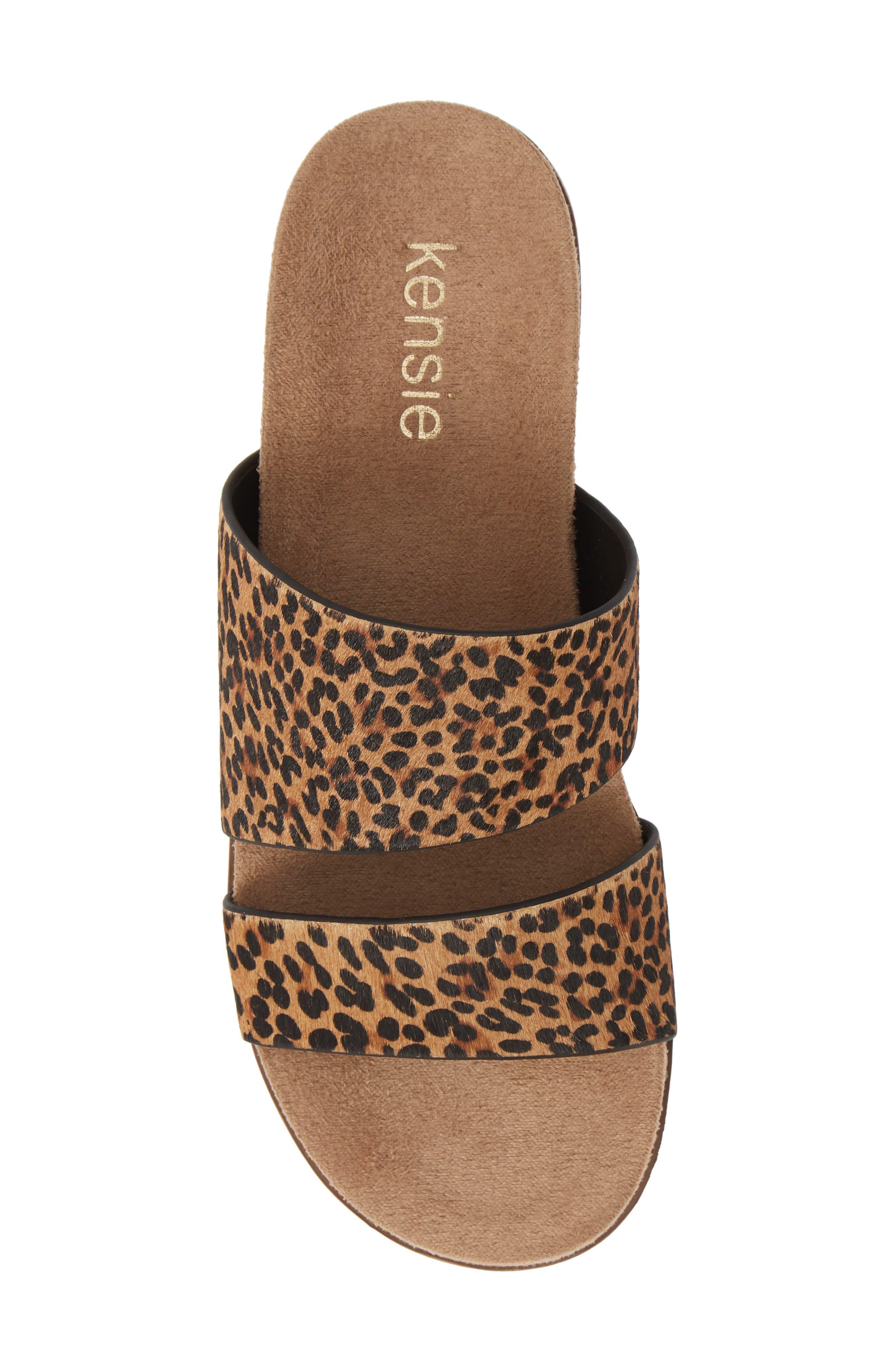 ,                             Danesha Genuine Calf Hair Slide Sandal,                             Alternate thumbnail 6, color,                             LEOPARD PRINT CALF HAIR