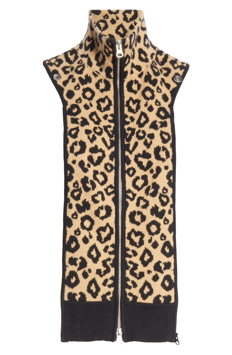VERONICA BEARD Toni Leopard Wool Jacquard Dickey, Main, color, 273