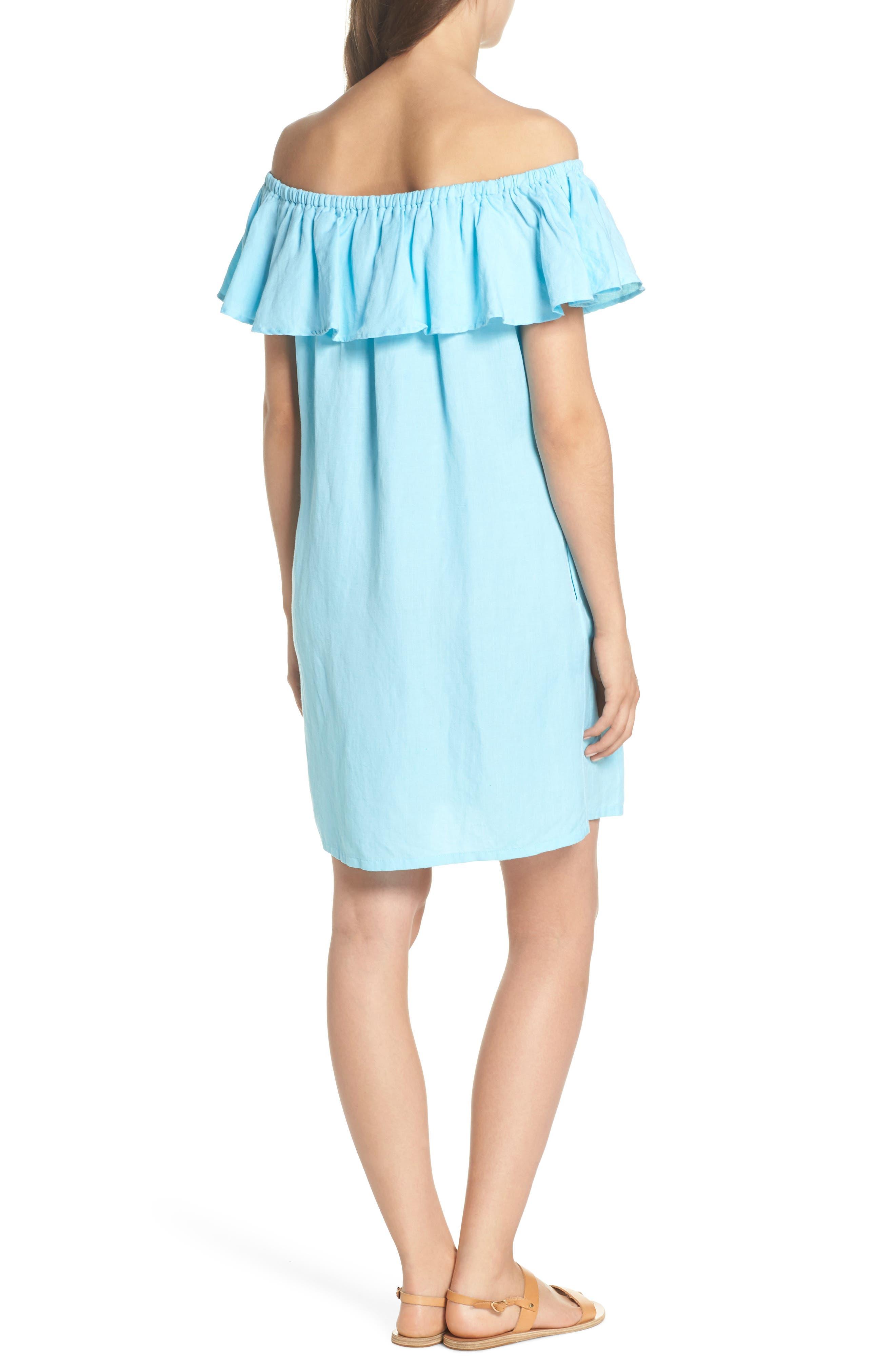 ,                             Off the Shoulder Cover-Up Dress,                             Alternate thumbnail 21, color,                             402