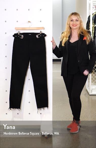 Zoey Double Buckle Slim Jeans, sales video thumbnail