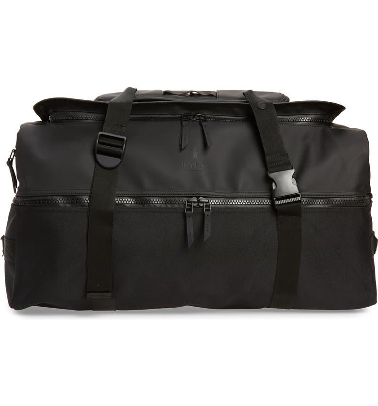 RAINS Waterproof Large Travel Backpack, Main, color, BLACK