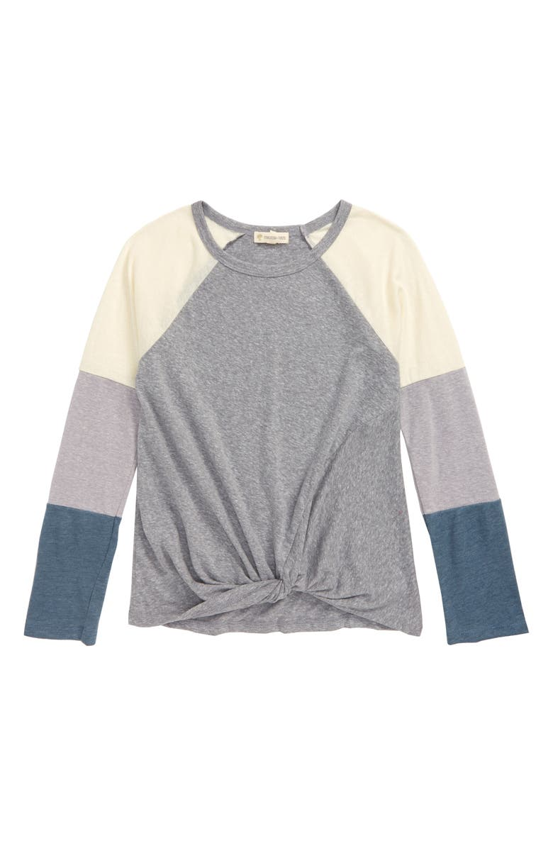 TUCKER + TATE Forget Me Knot Tee, Main, color, GREY ASH HEATHER MULTI