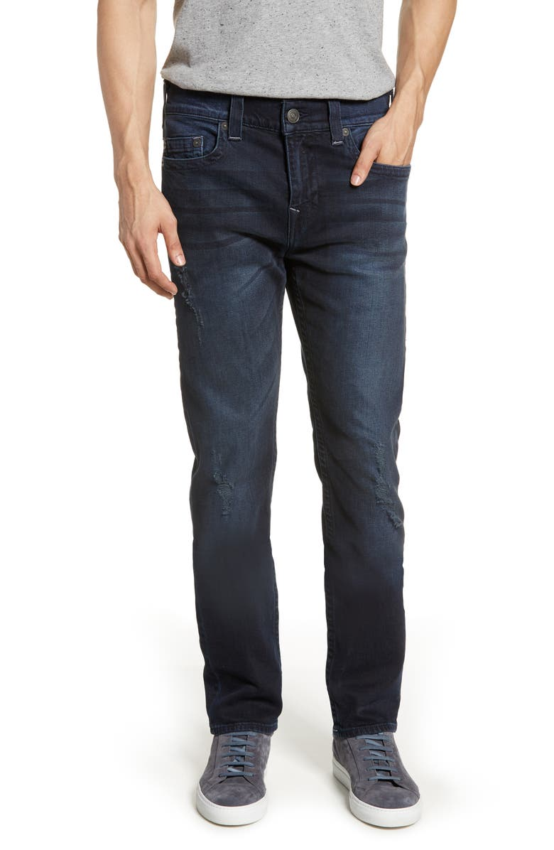 TRUE RELIGION BRAND JEANS Marco Tapered Slim Fit Jeans, Main, color, DARK AXLE