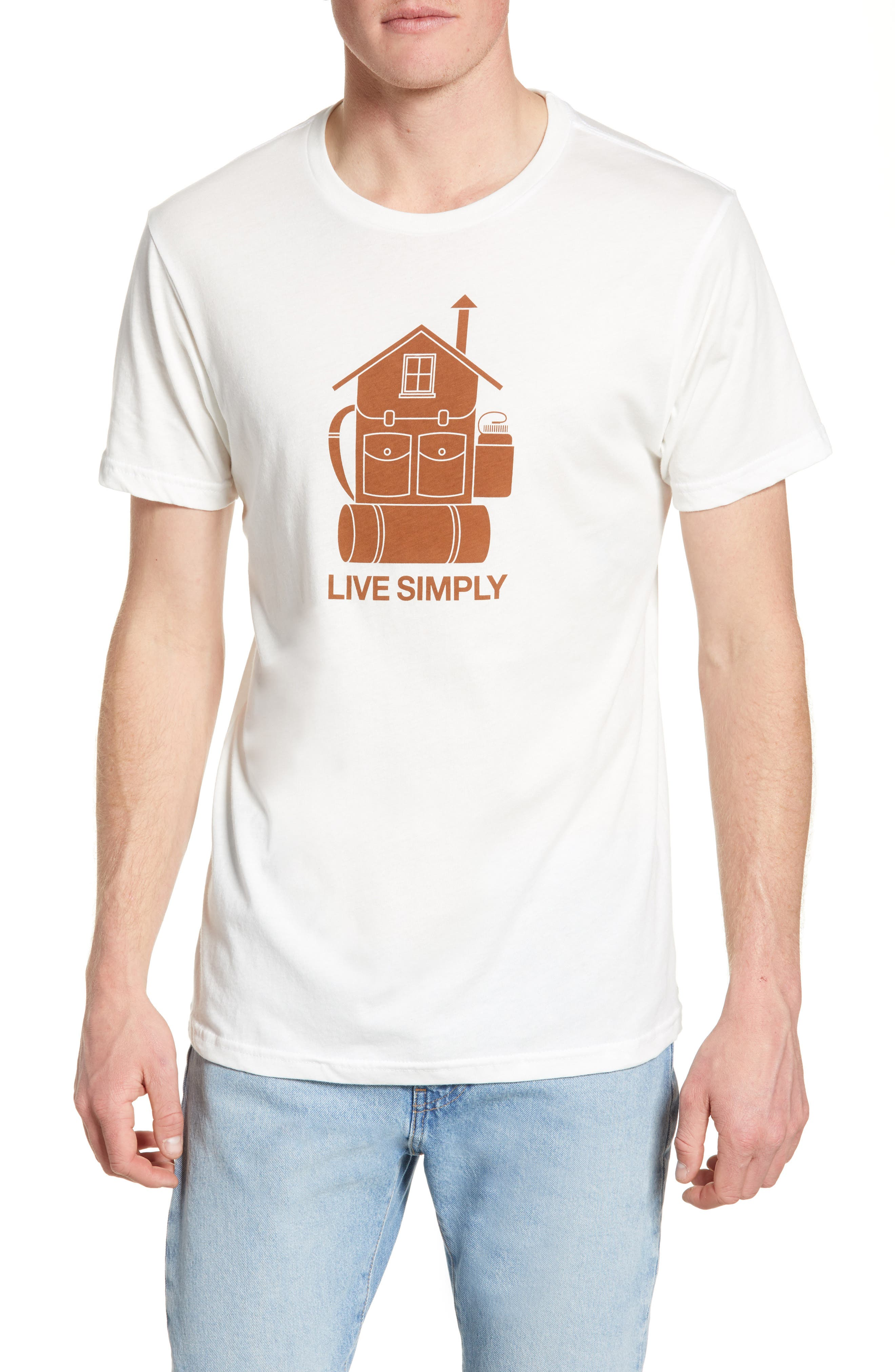 Patagonia Live Simply Home Graphic Organic Cotton T-Shirt, White