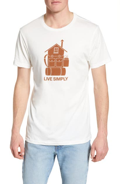Patagonia Live Simply Home Graphic Organic Cotton T-Shirt In White