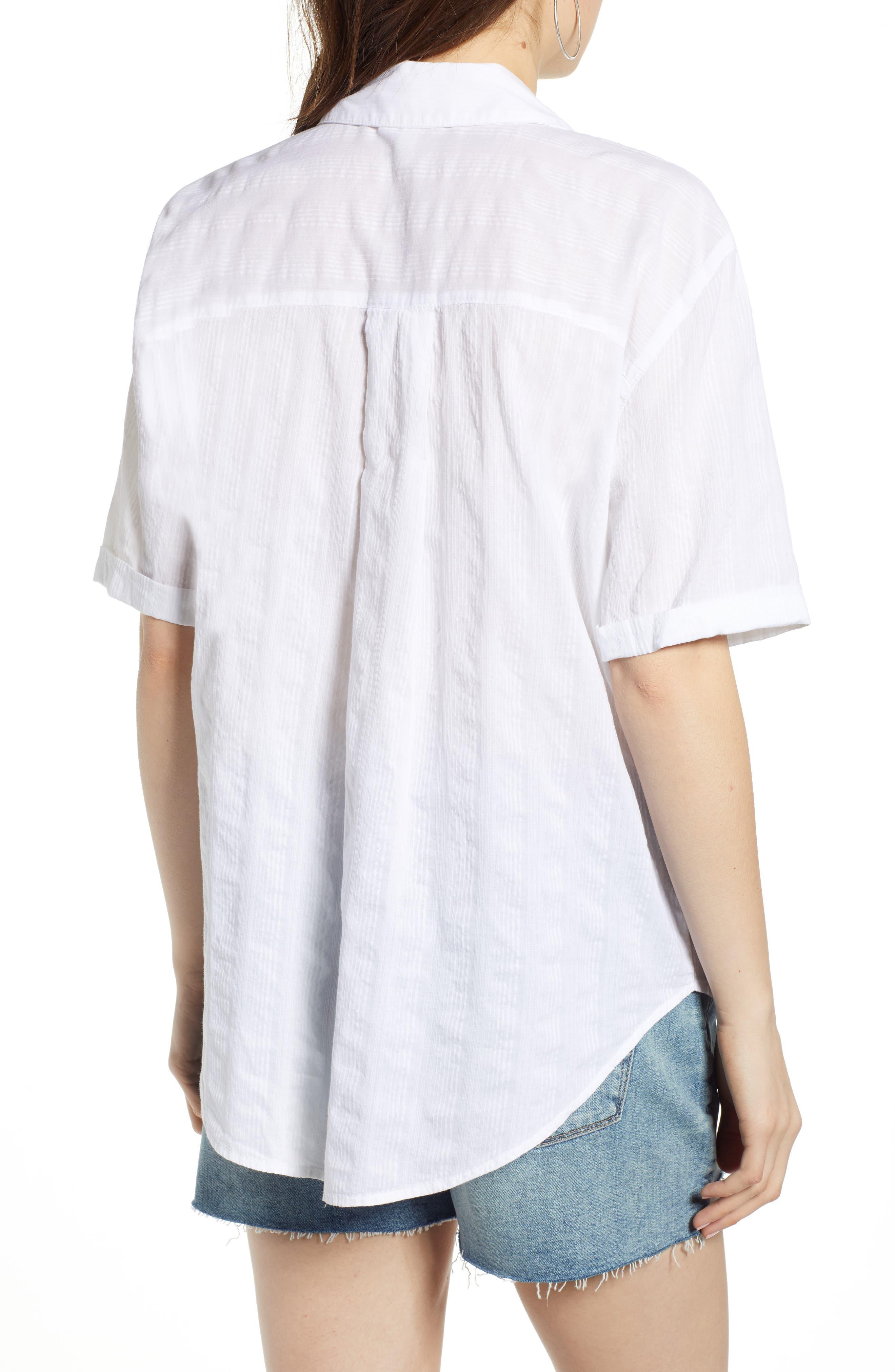 ,                             Stripe Shirt,                             Alternate thumbnail 2, color,                             WHITE SHALLIS STRIPE