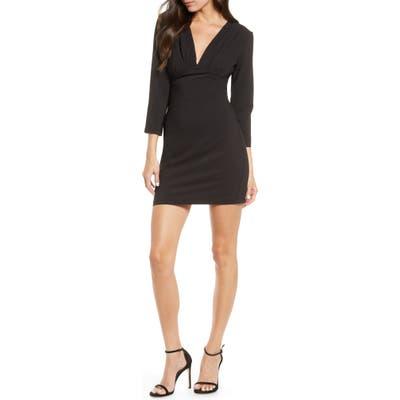 Fraiche By J Deep V-Neck Dress, Black