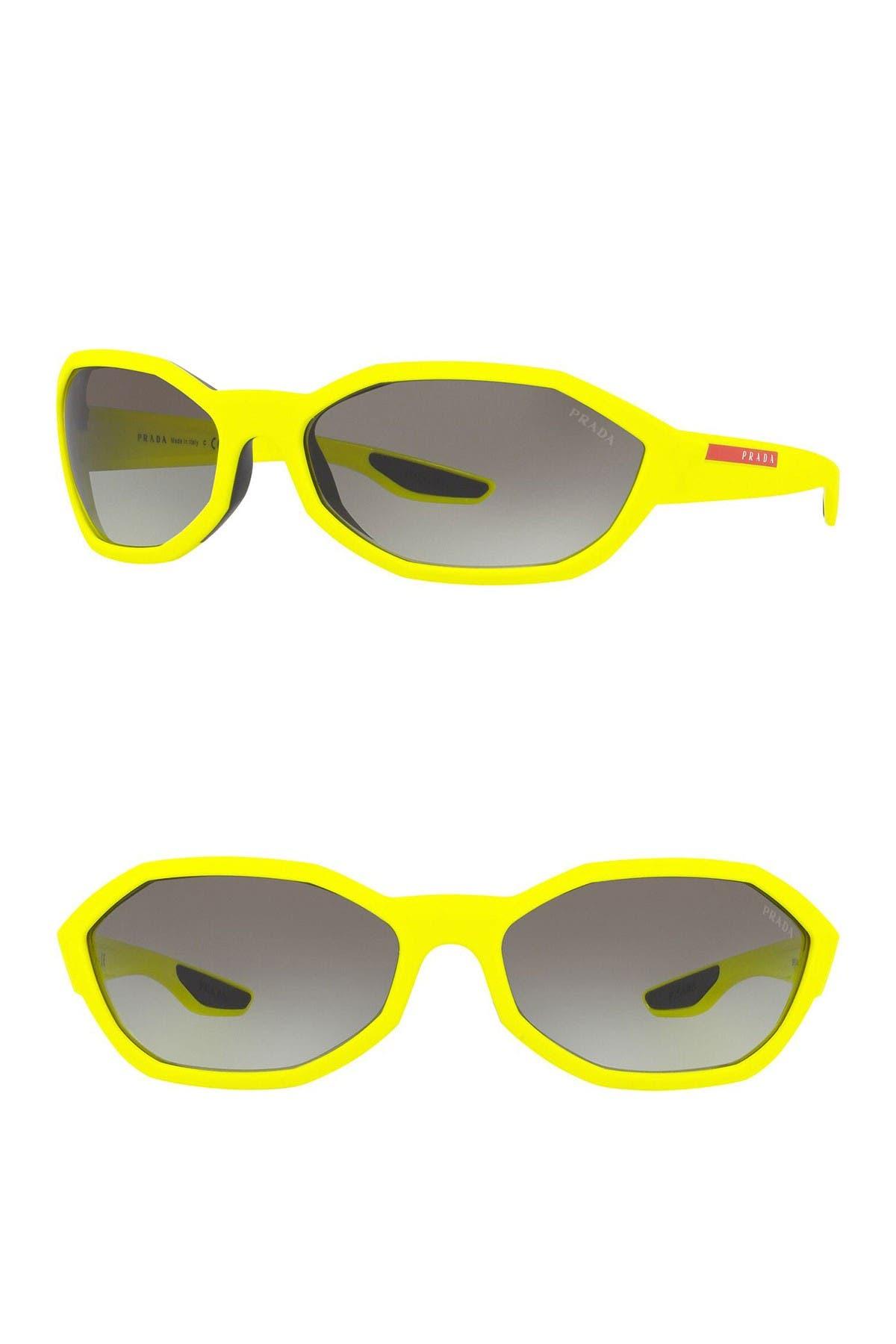 Image of PRADA LINEA ROSSA Grad 67mm Irregular Sunglasses