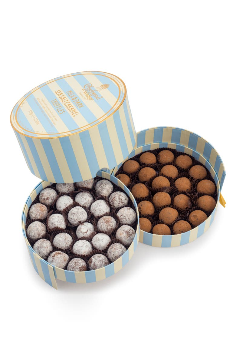 CHARBONNEL ET WALKER Flavored Chocolate Truffles in Gift Box, Main, color, MILK/ DARK SEA SALT