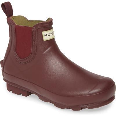 Hunter Norris Chelsea Waterproof Boot, Red