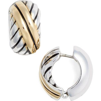 Erwin Pearl Diagonal Stripe Reversible Earrings
