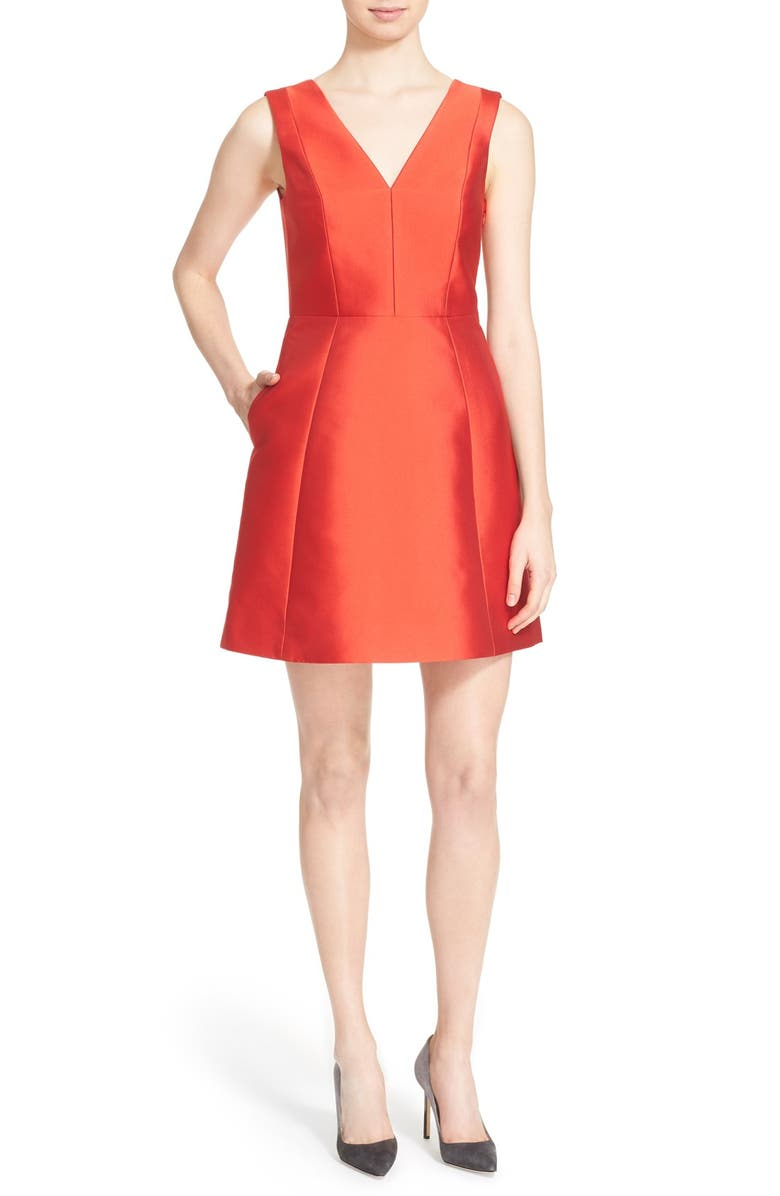 KATE SPADE NEW YORK open back bow dress, Main, color, 601