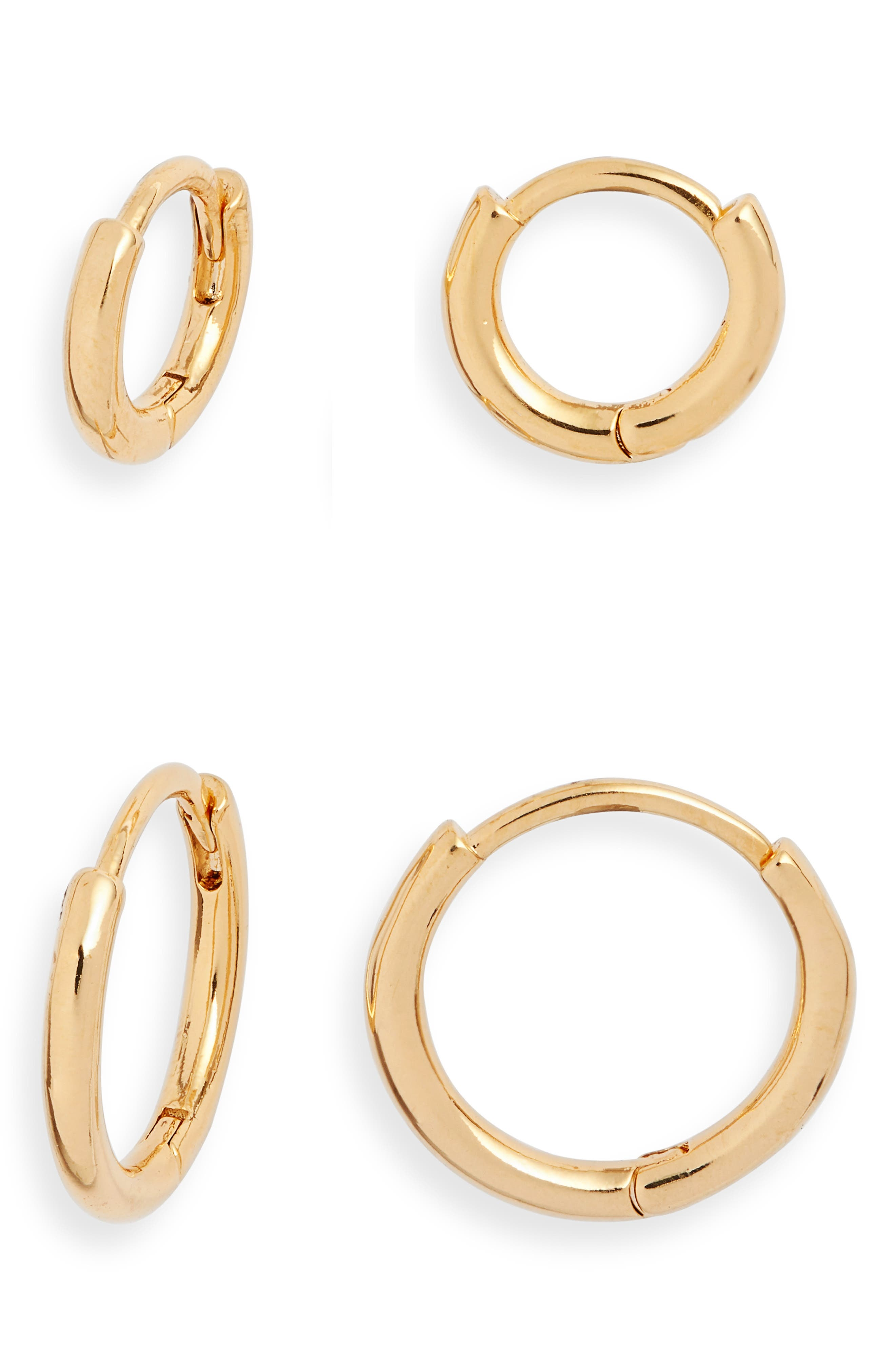 Set Of 2 Click Endless Hoop Earrings