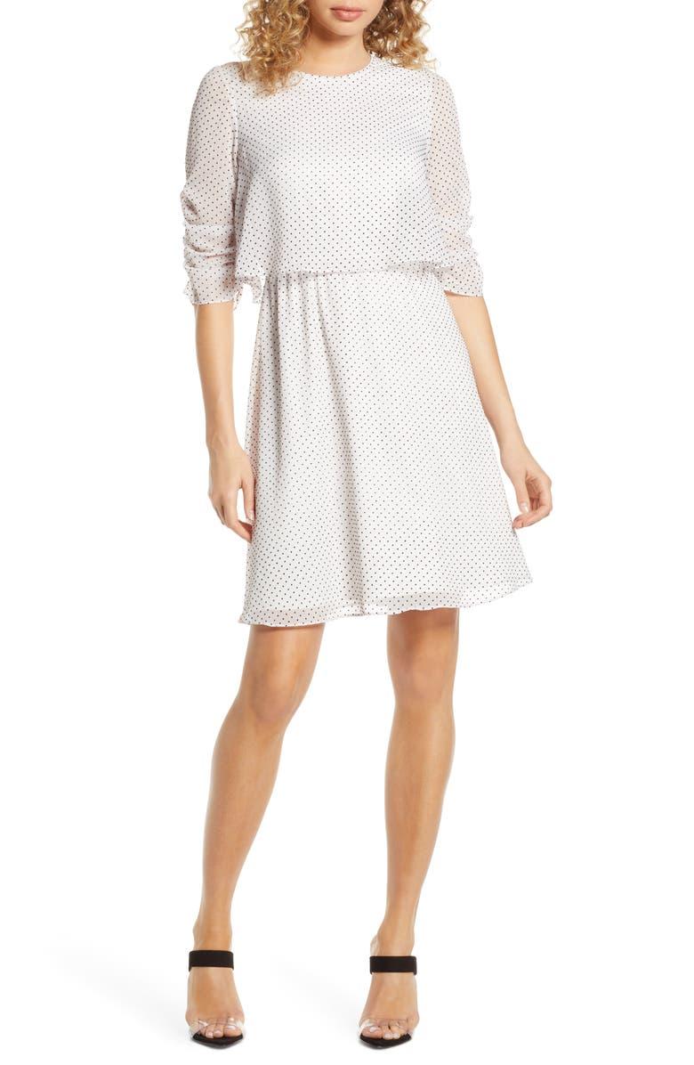 AVEC LES FILLES Popover Chiffon Dress, Main, color, 900