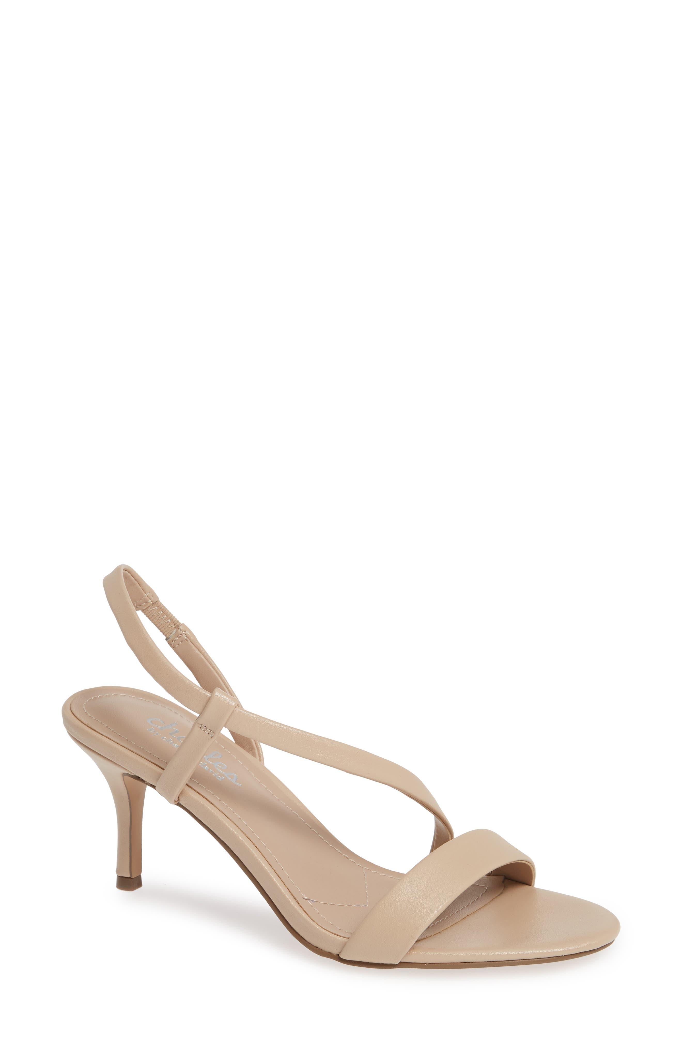 Charles By Charles David Bermuda Asymmetrical Sandal, Beige