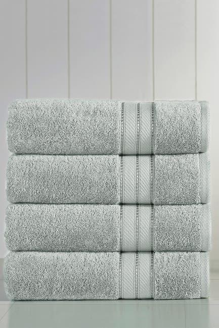 Image of Modern Threads Spunloft Bath Towel - Set of 4 - Gray