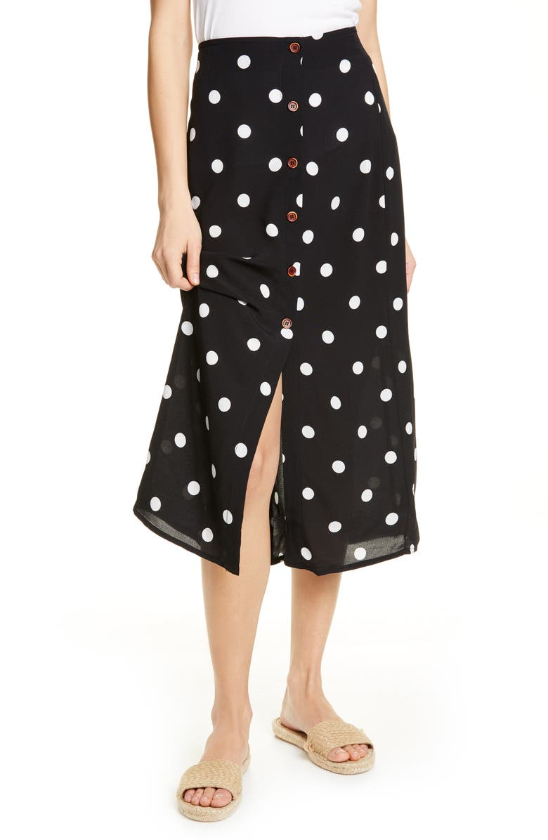 FREE PEOPLE Retro Love Midi Skirt, Main, color, 001
