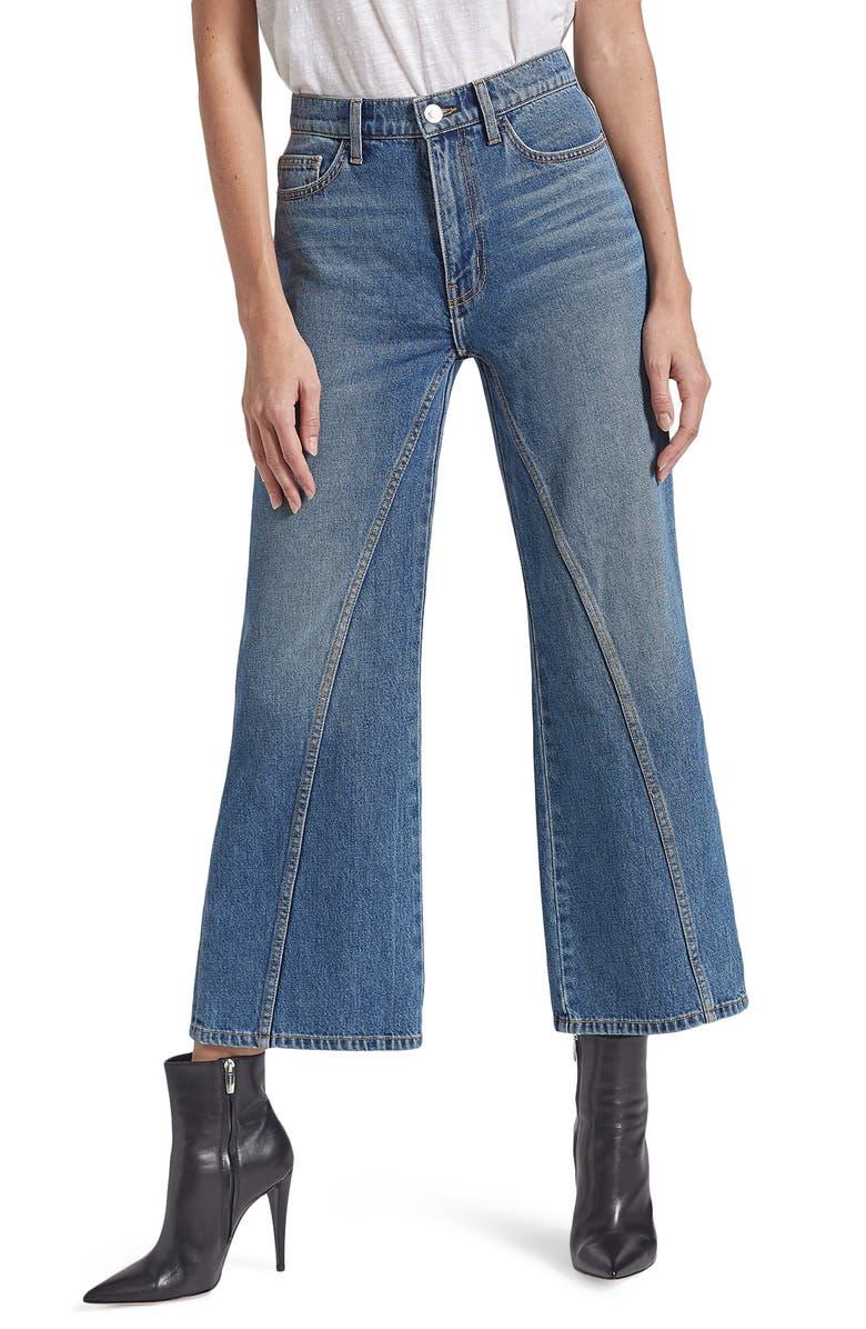 CURRENT/ELLIOTT The Seamed High Waist Crop Wide Leg Jeans, Main, color, 400