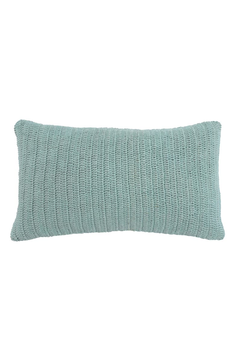 VILLA HOME COLLECTION Rina Accent Pillow, Main, color, SURF BLUE