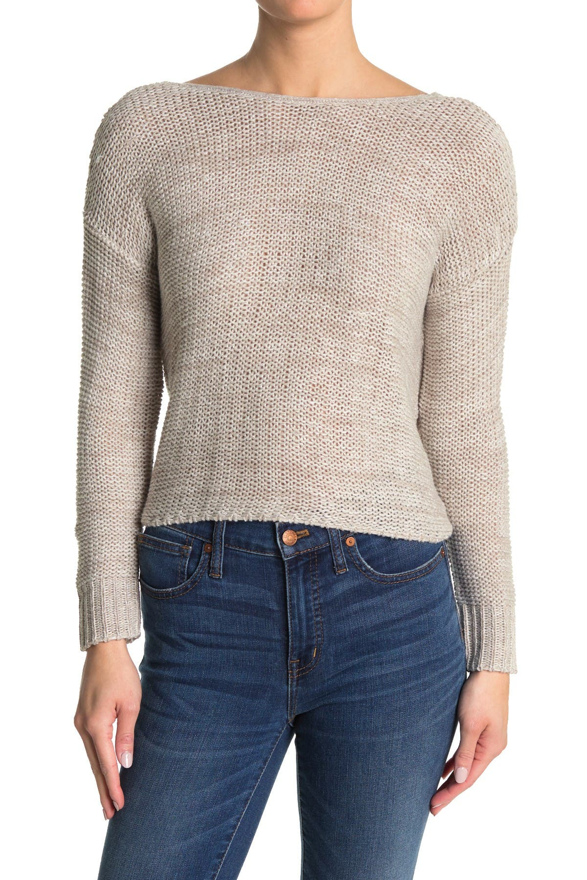 Image of Abound Twist Back Knit Sweater