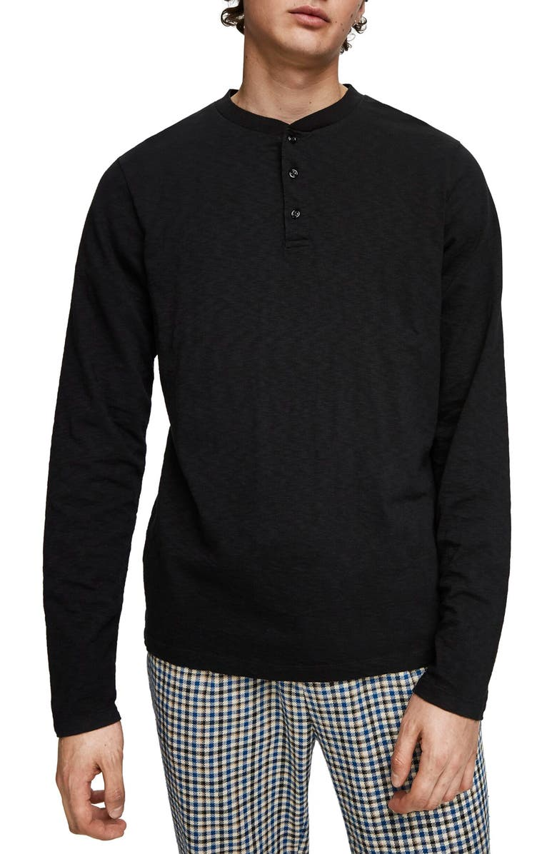 SCOTCH & SODA Granddad Classic Fit Long Sleeve Henley, Main, color, 002