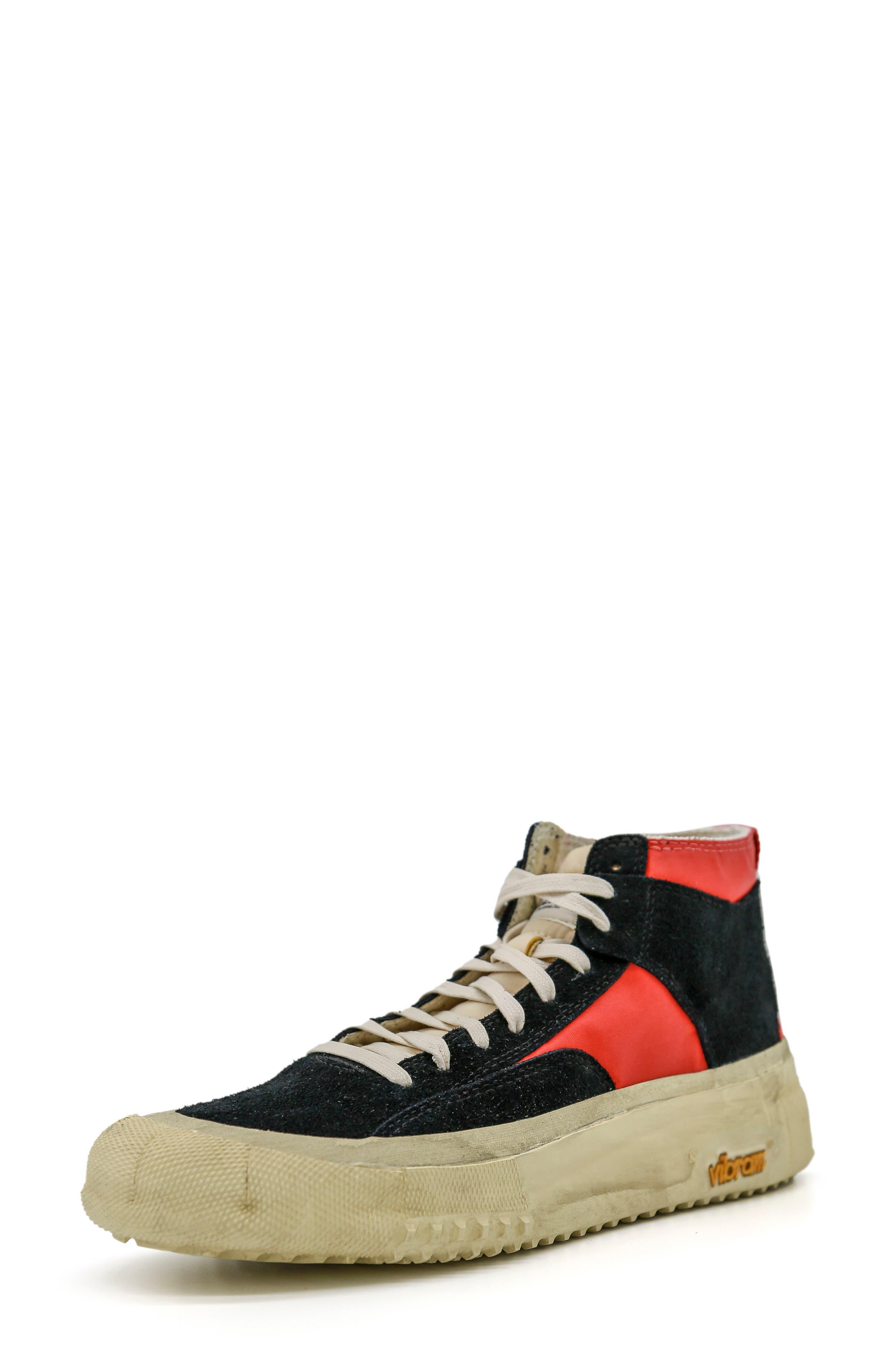 Capo Distressed High Top Platform Sneaker