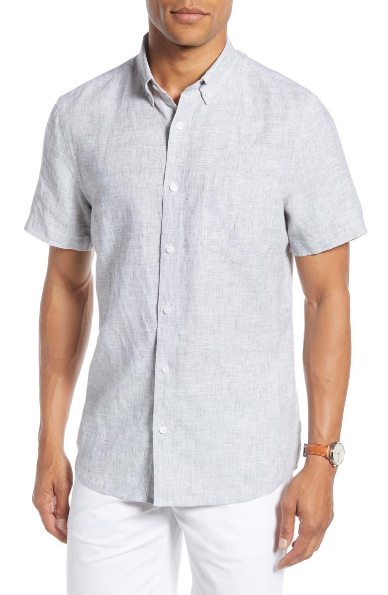 1901 Linen Slim Fit Shirt, Main, color, 021