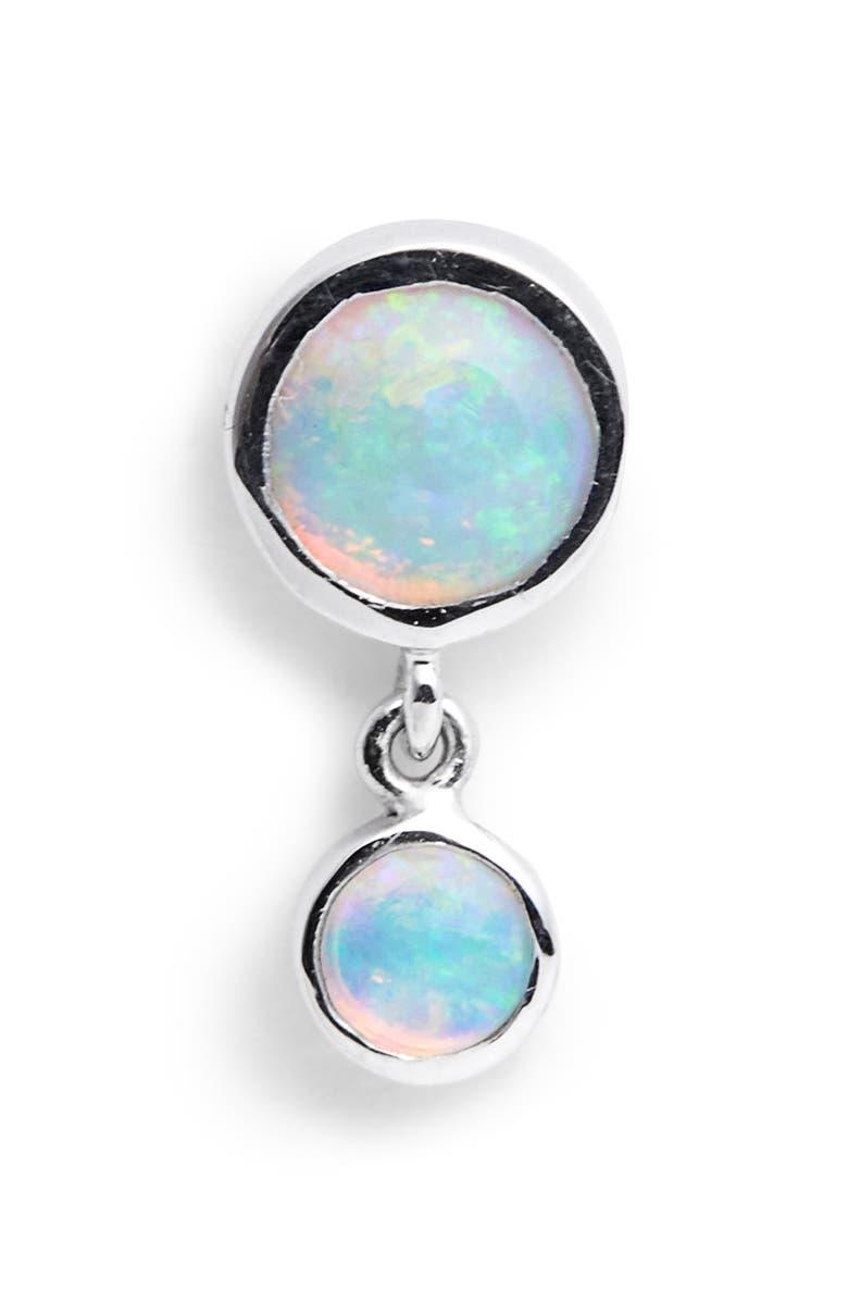 MARIA TASH Dangling Opal Stud Earring, Main, color, WHITE GOLD
