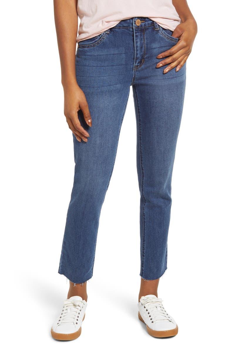 WIT & WISDOM Flexellent High Waist Slim Straight Leg Jeans, Main, color, 420
