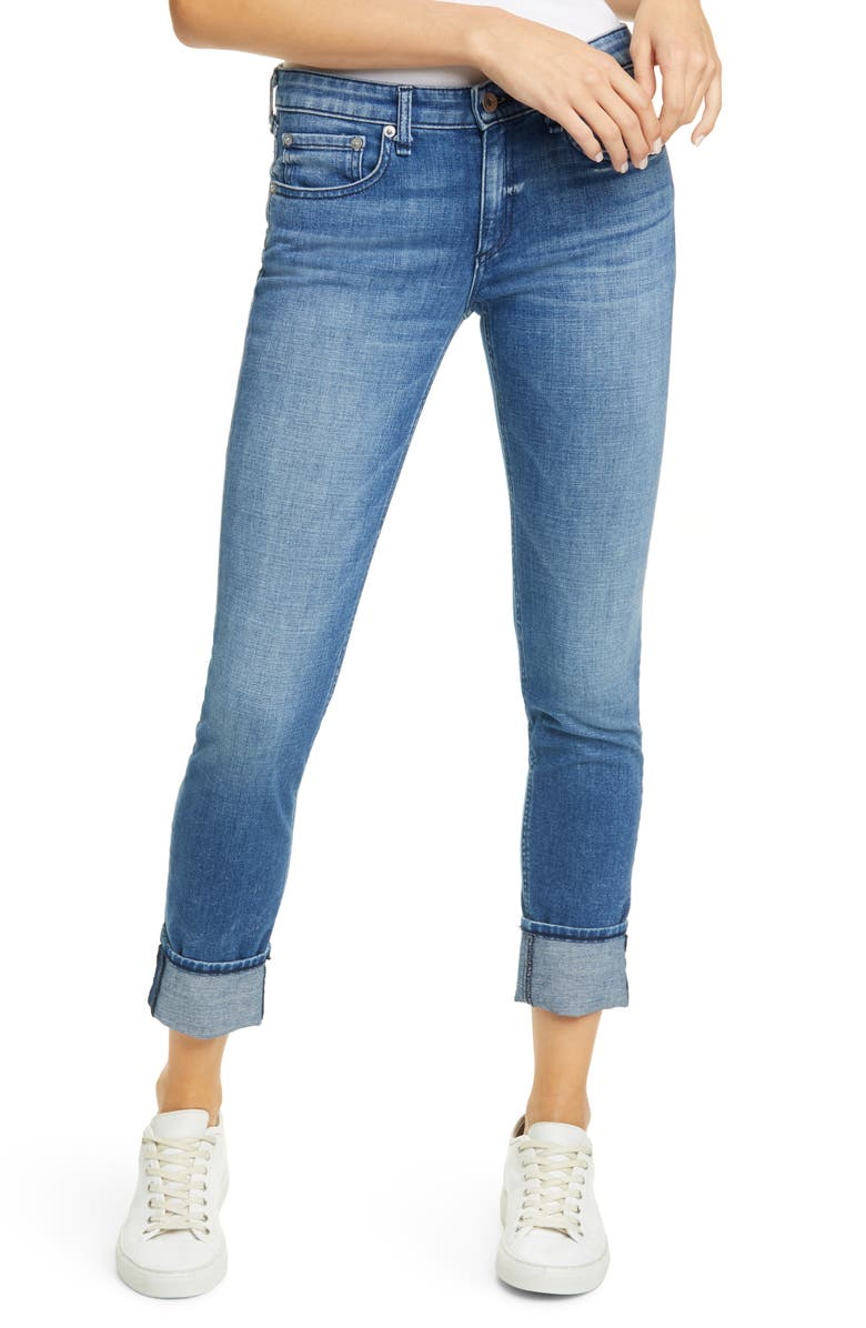 RAG & BONE Dre Slim Boyfriend Jeans, Main, color, SAPPHIRE