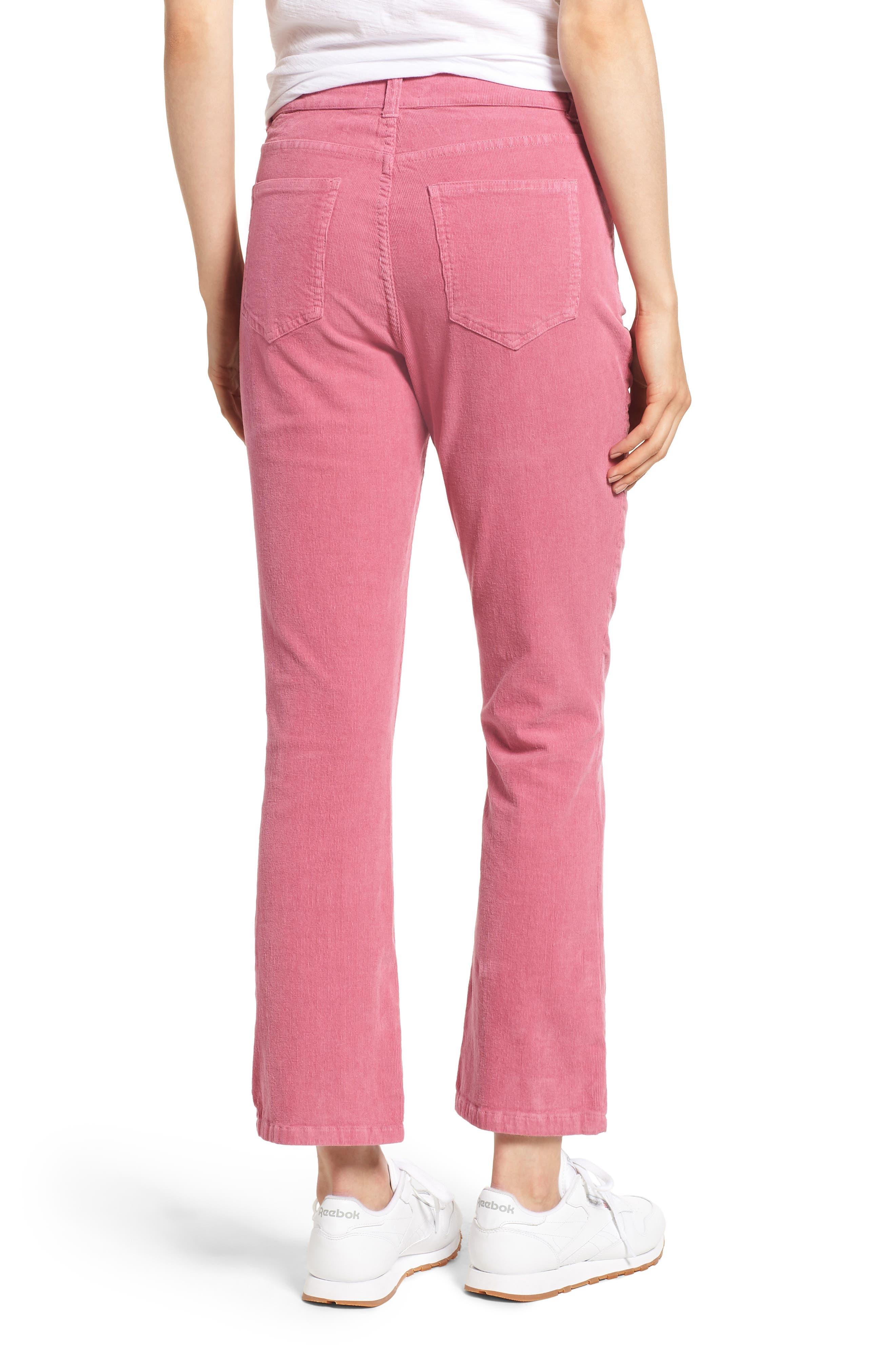 ,                             Corduroy Slim Crop Flare Pants,                             Alternate thumbnail 9, color,                             659