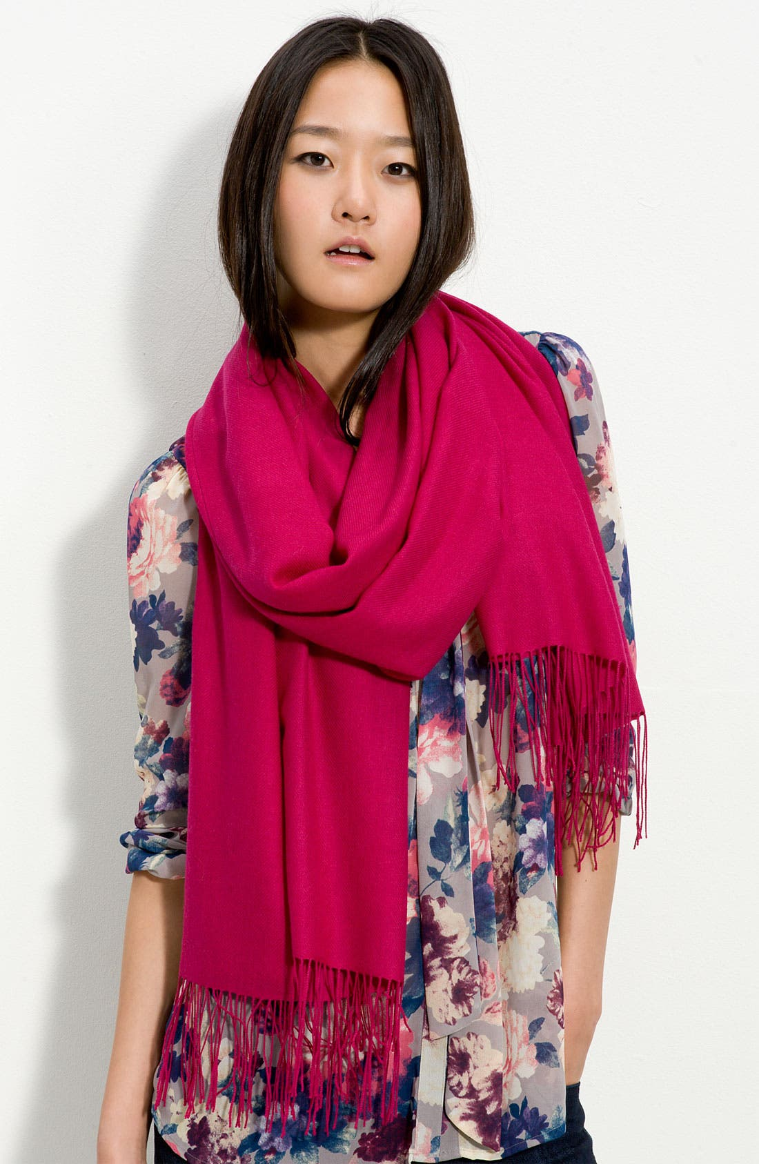 ,                             Tissue Weight Wool & Cashmere Wrap,                             Main thumbnail 124, color,                             501
