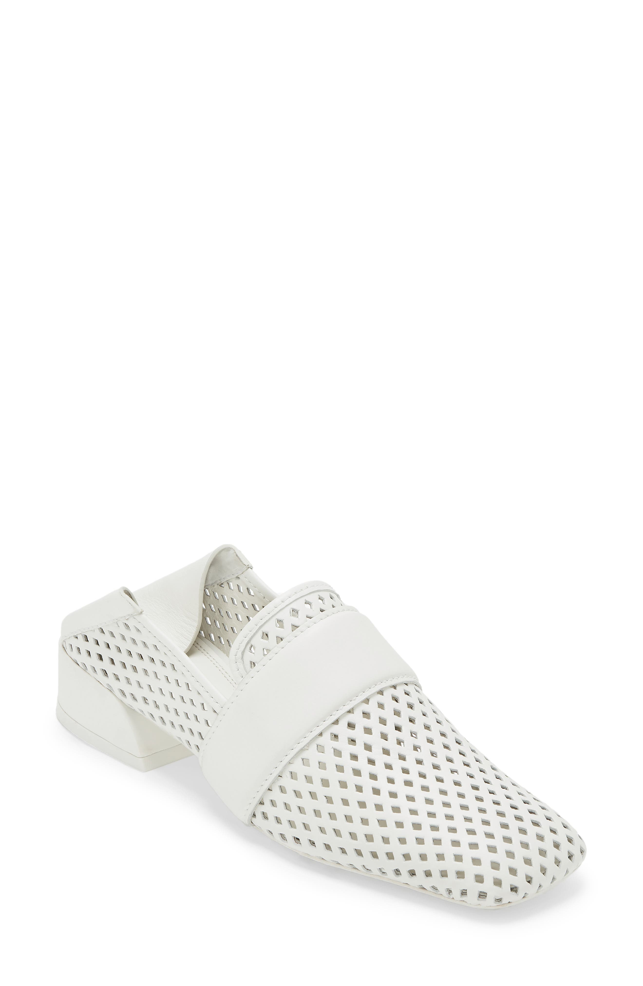 Mercedes Castillo Mati Perforated Convertible Loafer- White