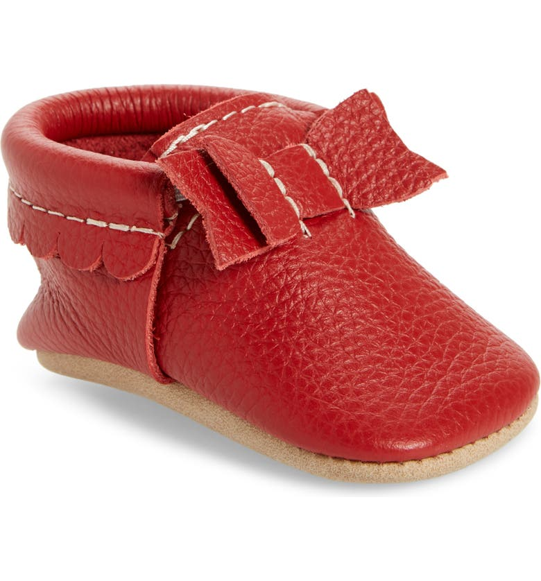 FRESHLY PICKED Mrs. Clause Moccasin, Main, color, RED