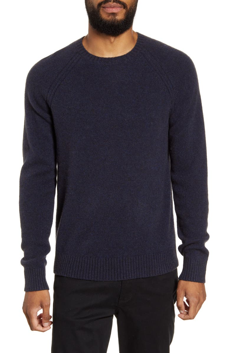 VINCE Classic Merino Wool & Yak Crewneck Sweatshirt, Main, color, DK COASTAL