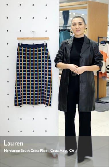 Tory Sport Circuit Plaid Knit Skirt, sales video thumbnail
